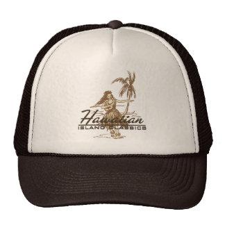 Tradewinds en marrón en un gorra del camionero