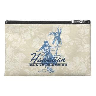 Tradewinds Hawaiian Island Hula Girl Bright Travel Accessory Bag