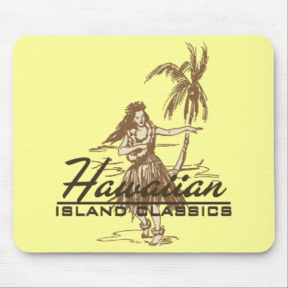 Tradewinds Hawaiian Island Hula Girl Bright Mouse Pad