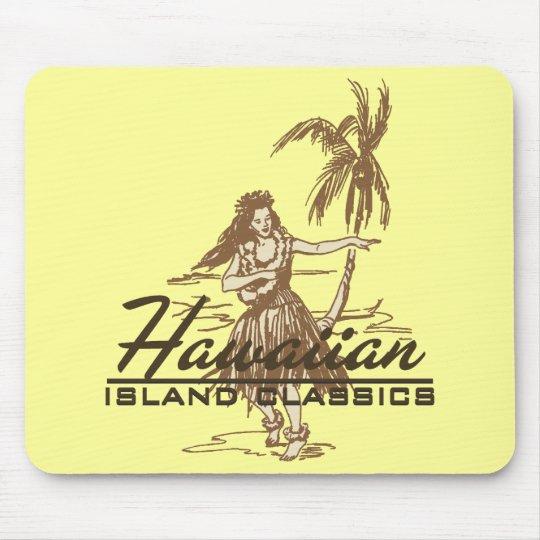 Tradewinds Hawaiian Island Hula Girl Bright Mouse Pad