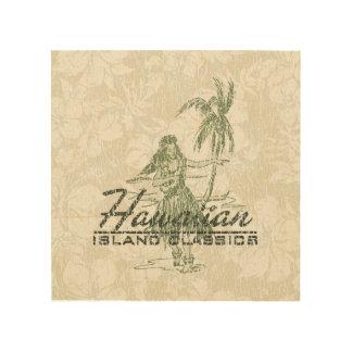 Tradewinds Hawaiian Island Hula Girl Distressed Wood Wall Art
