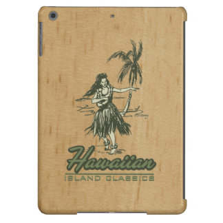 Tradewinds Hawaiian Island Hula Girl Faux Wood iPad Air Cover