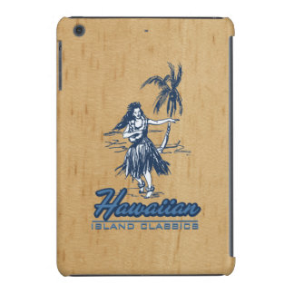 Tradewinds Hawaiian Island Hula Girl Faux Wood iPad Mini Retina Cover