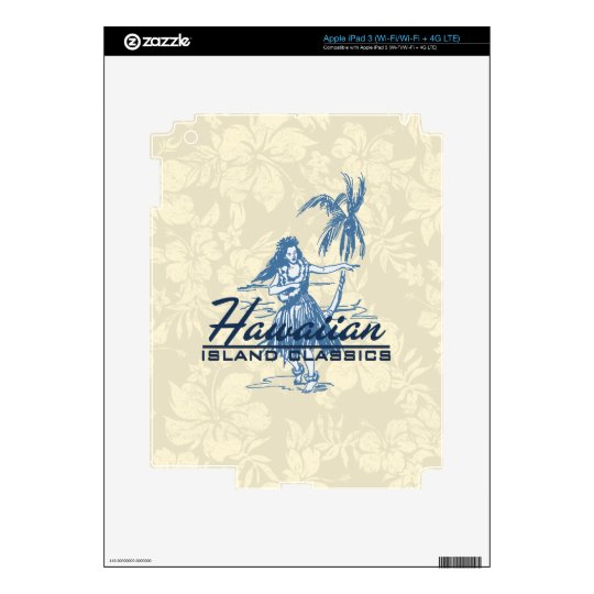 Tradewinds Hawaiian Island iPad 3 or Tablet Skin Decal For iPad 3