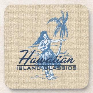Tradewinds Hula Girl Hawaiian Cork-backed Coasters