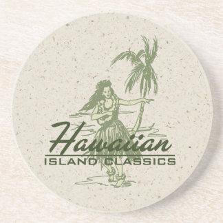 Tradewinds Hula Girl Hawaiian Tiki Bar Coasters