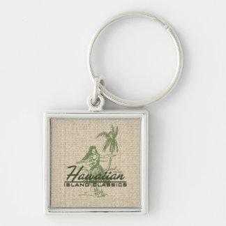 Tradewinds Hula Girl Vintage Hawaiian Keyrings Keychains
