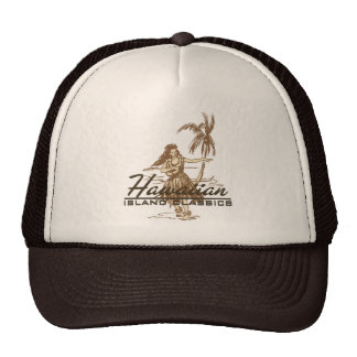 Tradewinds in brown on a trucker hat