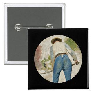 Tradgardsmastaren Man Shoveling Soil Pinback Button