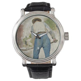 Tradgardsmastaren Man Shoveling Soil Wrist Watch