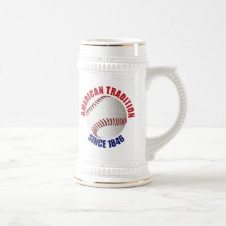 Tradición del americano del béisbol jarra de cerveza
