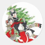 Tradición del árbol de navidad del Victorian del Etiqueta Redonda