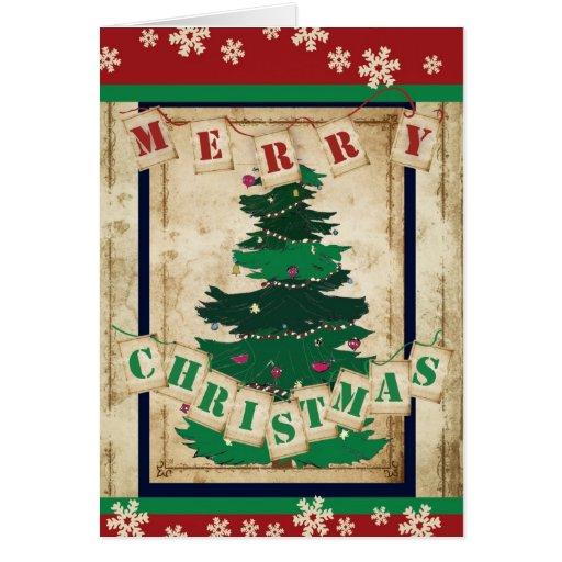 Tradición del árbol de navidad tarjetas