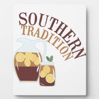 Tradición meridional placa para mostrar