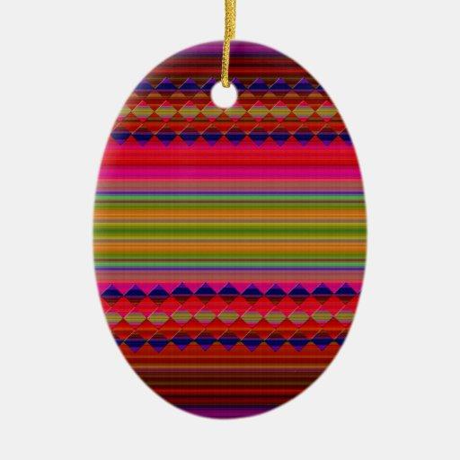tradicional adorno ovalado de cerámica