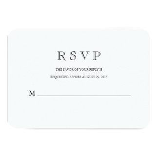 Tradicional con una tarjeta moderna de la invitación 8,9 x 12,7 cm