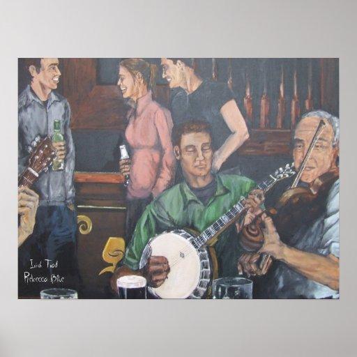 Tradicional irlandés impresiones