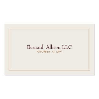 Tradicional profesional de marfil del abogado tarjetas de visita