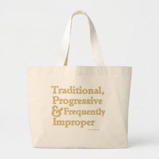 Tradicional, progresista… bolsas de mano