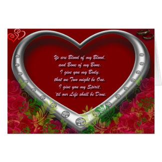 Tradicional rojo floral. Voto del amor de Scot - Tarjeta De Felicitación