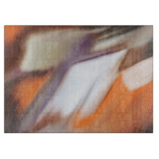 """""""Trading"""" abstract painting Cutting Board"""