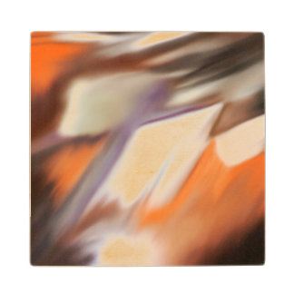 """""""Trading"""" abstract painting Wood Coaster"""