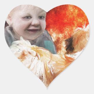 trading childhood wonder heart sticker