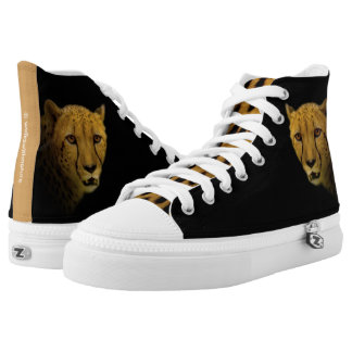 Trading Glances with a Magnificent Cheetah High-Top Sneakers