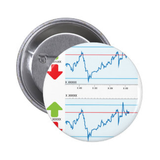 Trading graph 2 inch round button