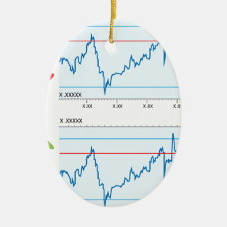 Trading graph Double-Sided oval ceramic christmas ornament