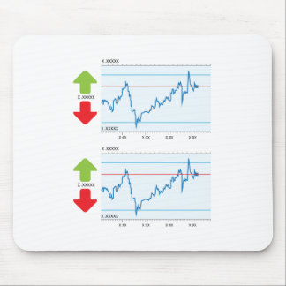 Trading graph mouse pad