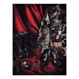 Trading My Heels For Combat Boots... Military Art Poster