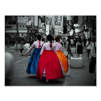 tradional korean girl photography poster