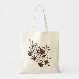 Traditioal Flower motif block print Tote Bag