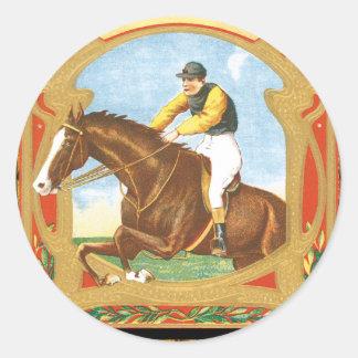 Tradition Horse Jumper Classic Round Sticker