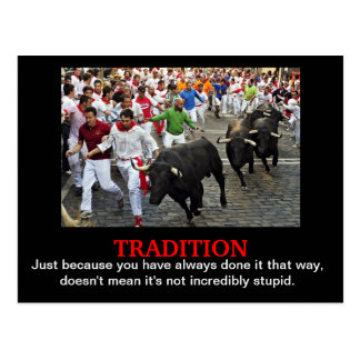 Tradition Postcard