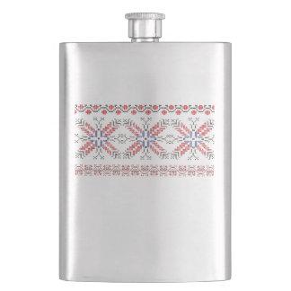 Tradition Romanian folk motifs Flask