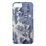 Traditional 19th Century Blue Willow China Case