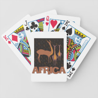 Traditional African brown artwork of antelope Bicycle Playing Cards