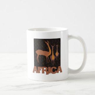 Traditional African brown artwork of antelope Coffee Mug