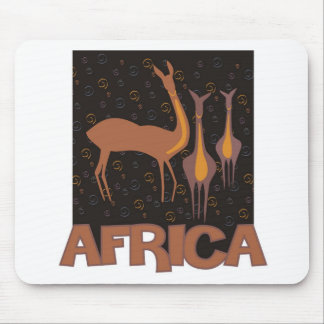 Traditional African brown artwork of antelope Mouse Pad