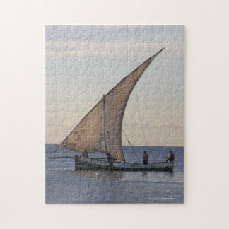 Traditional African Dhow at Zanzibar Jigsaw Puzzle