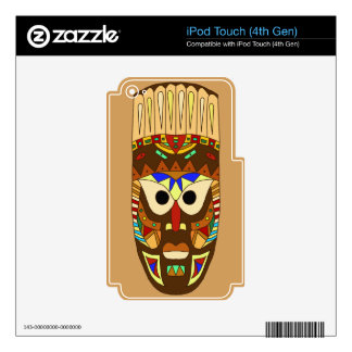 traditional african mask iPod touch 4G decal