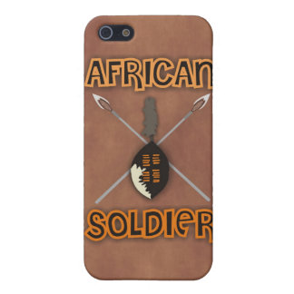 Traditional African Soldier Spear and Shield iPhone SE/5/5s Cover