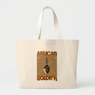 Traditional African Soldier Spear and Shield Large Tote Bag