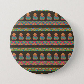 Traditional African Tribal Pottery Pattern Button
