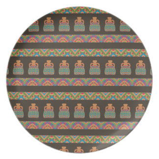 Traditional African Tribal Pottery Pattern Dinner Plate
