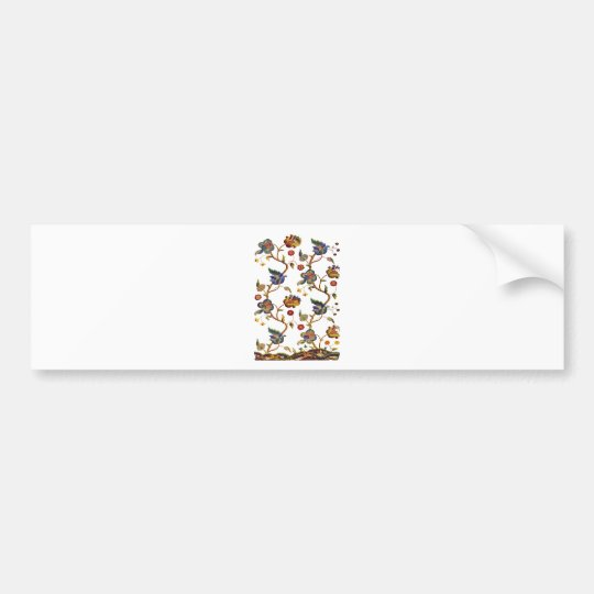 Traditional Albemarle Jacobean Embroidery Bumper Sticker