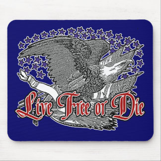 Traditional American Eagle- Live Free or Die Mouse Pad