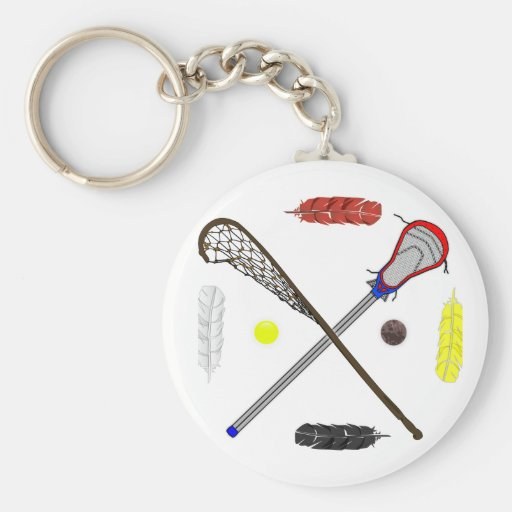 Traditional and Modern Lacrosse sticks Keychains